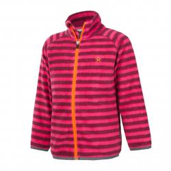 Dievčenská flisová mikina s celým zipsom COLOR KIDS-Vilbur fleece jacket-Pink