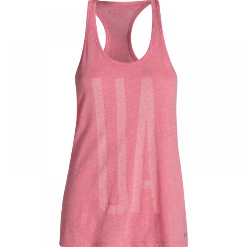 f6157b527201 Dámske tréningové tričko bez rukávov UNDER ARMOUR-CHARGED COTTON TRI-BLEND  UA TANK pink