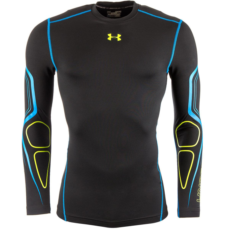 9f4149ec19f9 Pánske tréningové tričko s dlhým rukávom UNDER ARMOUR-COLD GEARG ARMOUR  GRAPHIC CREW black -