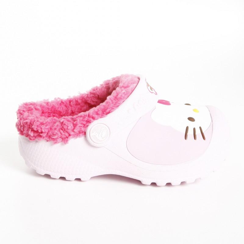 411a867ba428e Dievčenská rekreačná obuv CROCS-Hello Kitty Lined Custom Clog - Detské  Crocs so zábavnou potlačou