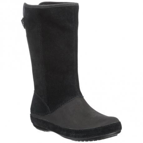 Darmowa dostawa szczegółowe obrazy Najnowsza moda CROCS-Berryessa Suede Boot black | EXIsport Eshop
