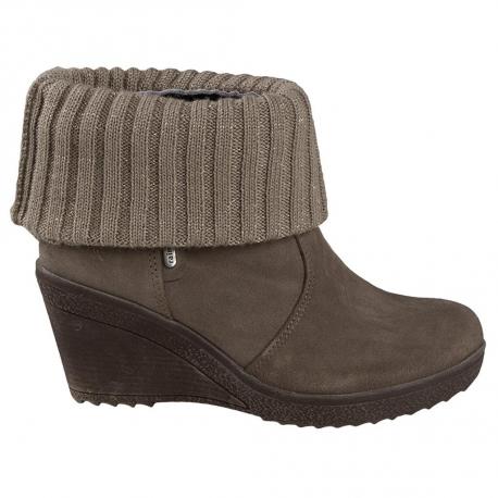 Dámska zimná obuv vysoká 2a-SUEDE/WOOL
