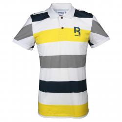 Pánske tričko s krátkym rukávom REEBOK-STRIPE POLO