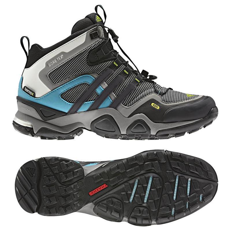 0333b7314 Dámska turistická obuv stredná ADIDAS-TERREX FAST X MID GTX W / GREY ROCK  S12