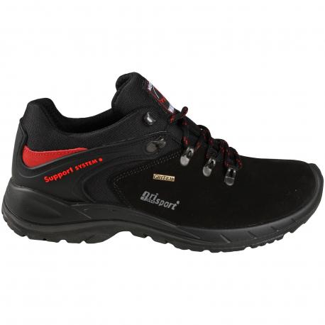 Pánska turistická obuv nízka GRISPORT-Cellole Black - Pánska a dámska turistická obuv s membránou GriTex a stabilizačným systémom na spevnenie členku Support systém.
