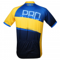 Pánsky cyklistický dres s krátkym rukávom ONLYXBIKE-cyklo dres MILANO - Blue-Yellow -