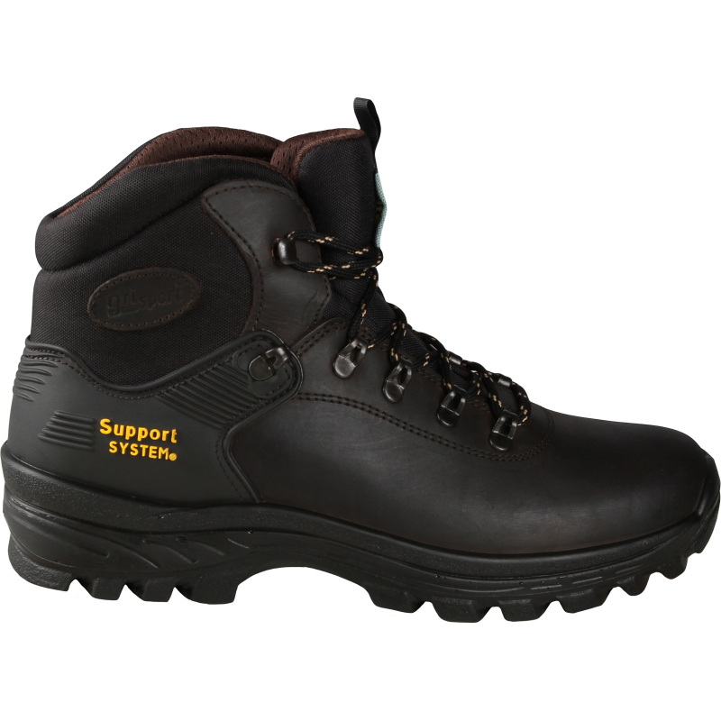 Turistická obuv vysoká GRISPORT-Morcone - Pánska kožená turistická obuv s membránou GriTex pre vyššiu odolnosť proti vode, vetru a chladu.