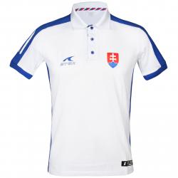 Fan polo tričko s krátkym rukávom ATAK POL SVK 16 POLOSHIRT WHITE CO