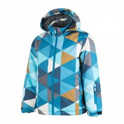 COLOR KIDS-Rialto padded ski jacket AOP-Blue