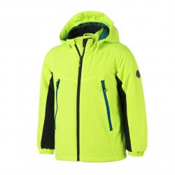 Chlapčenská lyžiarska bunda COLOR KIDS-Ribadeo softshell ski jacket-Green