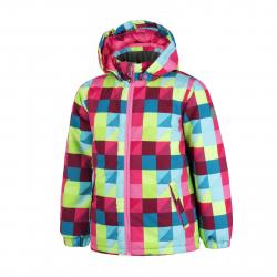 Dievčenská lyžiarska bunda COLOR KIDS-Saigon jacket AOP-Pink