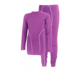 Detské termoprádlo vrchný a spodný diel COLOR KIDS-Waldi seamless underwear-Violet