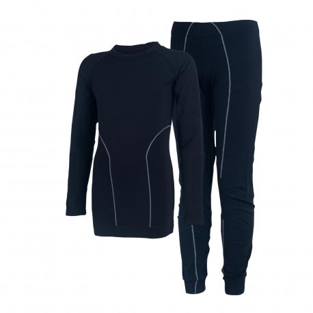 Dětské termoprádlo vrchní a spodní díl COLOR KIDS-Waldi seamless underwear-Black