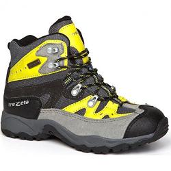 Detská turistická obuv vysoká TREZETA-IDAHO EVO KID WP GREY-ACID GR