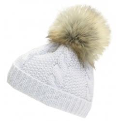Dámska zimná čiapka BLIZZARD-Viva Kaprun, white/silver