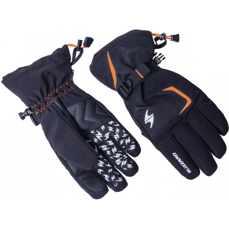 Lyžiarske rukavice BLIZZARD-Reflex ski gloves, black/orange - Lyžiarské rukavice značky Blizzard s protišmykovou silikónovou potlačou.