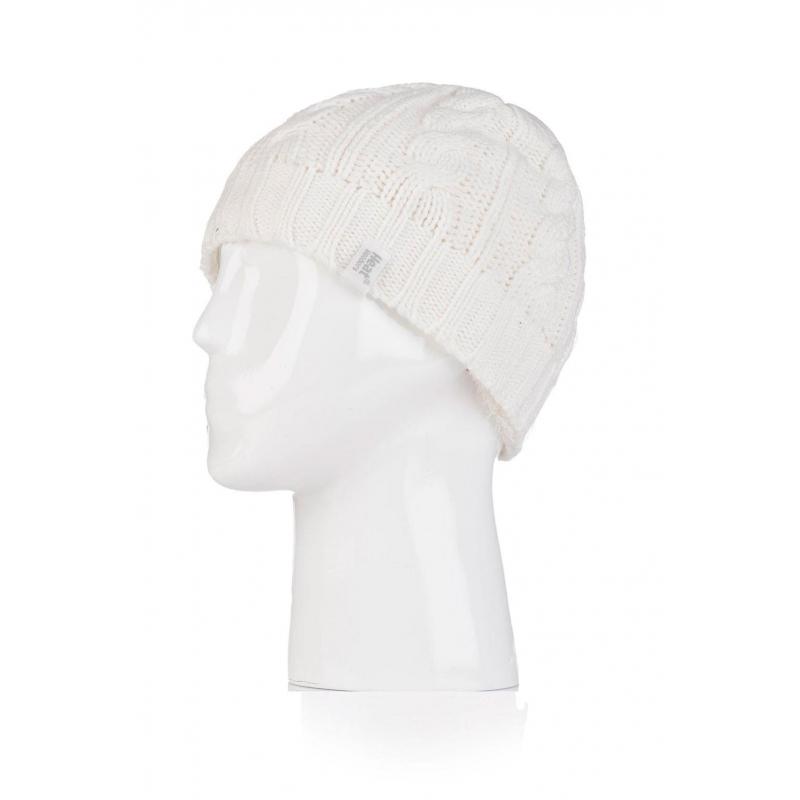 HEAT HOLDERS-Dámska čiapka Cream - Dámska zimná čiapka značky Heat Holders s teplou podšívkou HeatWeaver.