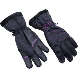 Dámske lyžiarske rukavice BLIZZARD-Viva Harmonica ski gloves, black/magenta,