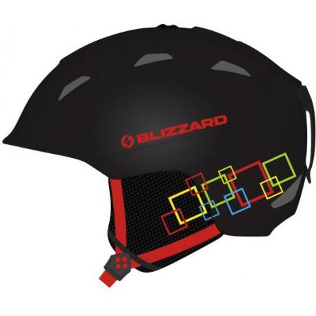 Lyžiarska prilba BLIZZARD-DEMON ski helmet junior, black matt/colorfull squares,