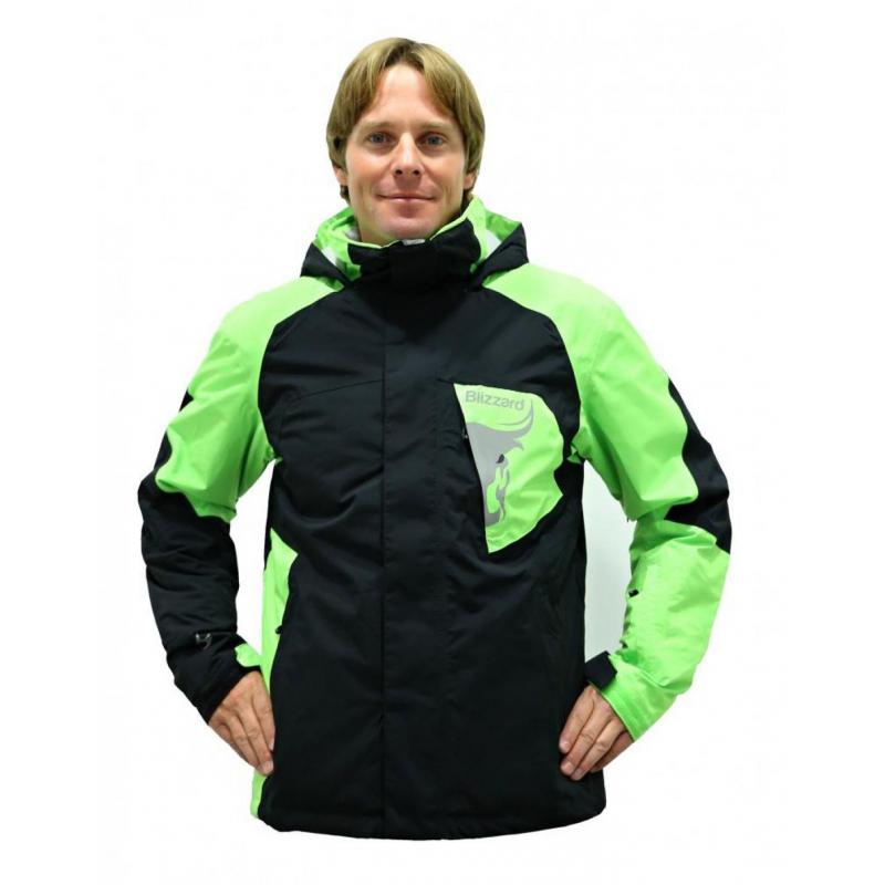 9fa7c0708 Pánska lyžiarska bunda BLIZZARD Freemountain Ski Jacket black/lime green -