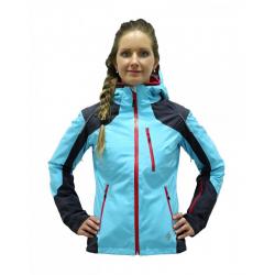 Dámska lyžiarska bunda BLIZZARD Viva Power Ski Jacket anthracite/l.blue/grenadin