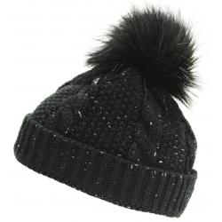 Dámska zimná čiapka BLIZZARD-Viva Kaprun, black/silver
