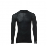 THERMOWAVE-Mens long sleeve shirt MERINO black