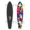 "STREET SURFING Longboard  KICKTAIL 36"" Space - artist ser"