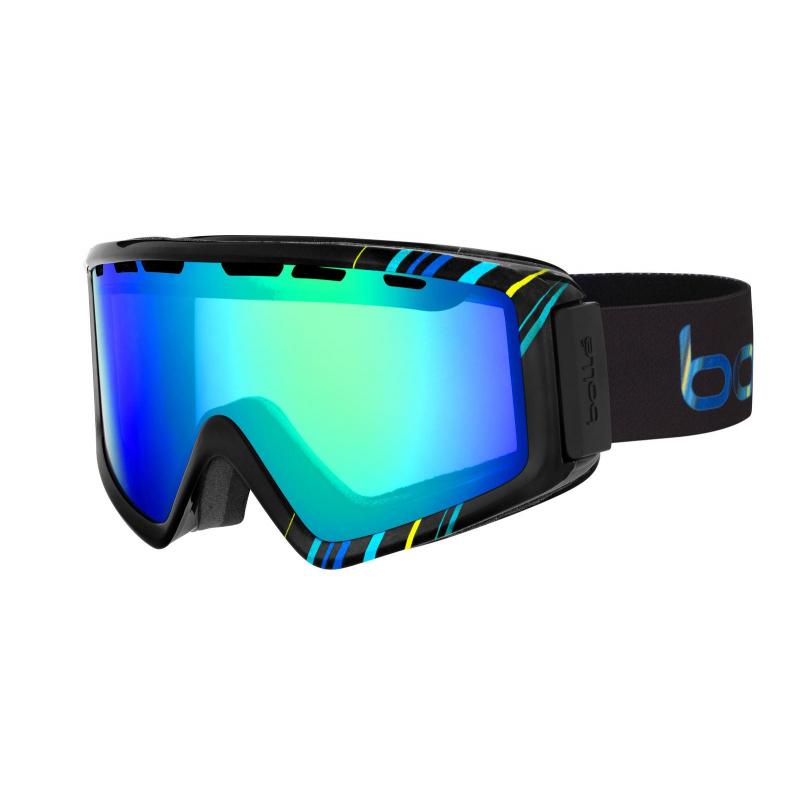 26d5ae908 Lyžiarske okuliare BOLLE Z5 OTG / SHINY BLACK & BLUE / GREEN EMERALD -  Univerzálne štýlové