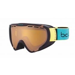 f43877d32 Lyžiarske okuliare BOLLE EXPLORER / SHINY BLACK & GREEN BRUSH / MODULATOR