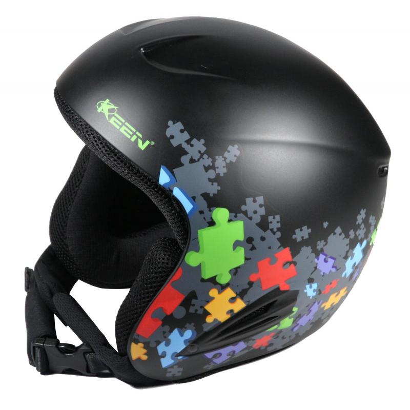 Juniorská lyžiarska prilba KEEN Detska helma - PUZZLE - Kvalitná detská  helma značky KEEN s tlmiacou 110779480bf