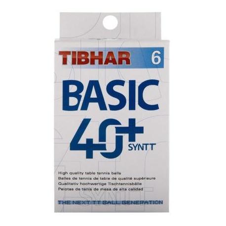 Stolnotenisové loptičky TIBHAR-Balls Basic 40+ SYNTT 6 pack