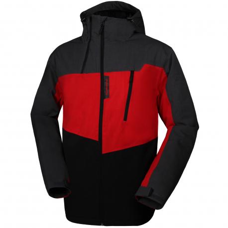 AUTHORITY-ZERHONY red - Pánska lyžiarska bunda značky Authority v zaujímavom dizajne.
