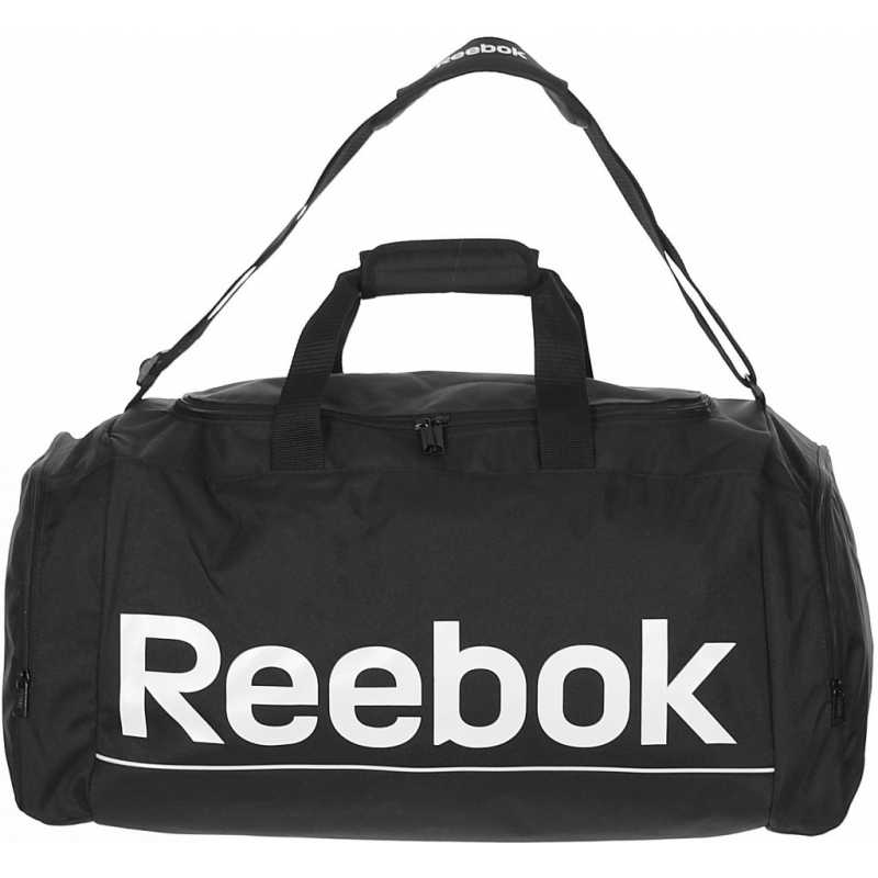 0adbf909f4 REEBOK-SPOR ROY M GRIP BLACK WHITE - Väčšia športová taška značky Reebok  vyrobená