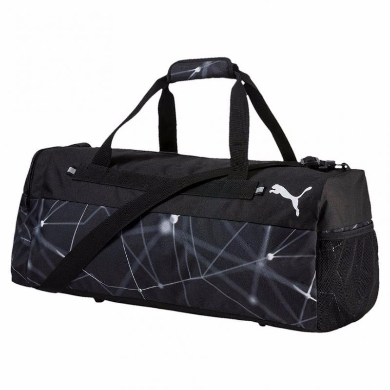 0c80cc28d8 PUMA-Fundamentals Sports Bag Graphic M Puma B - Váčšia športová taška  značky Puma so