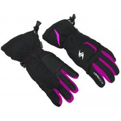 BLIZZARD Rider junior ski gloves, black/pink