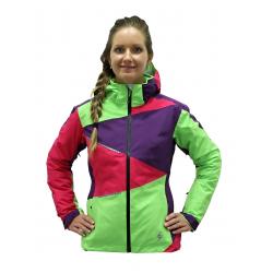 Dámska lyžiarska bunda BLIZZARD-Viva Performance Ski Jacket purple/grenad./lime green