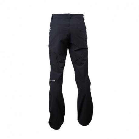 NORTHFINDER-GAGE NOS-blackred - Pánske trekingové 1-vrstvové nohavice disponujú vysokou vodeodolnosťou a elasticitou materiálu.