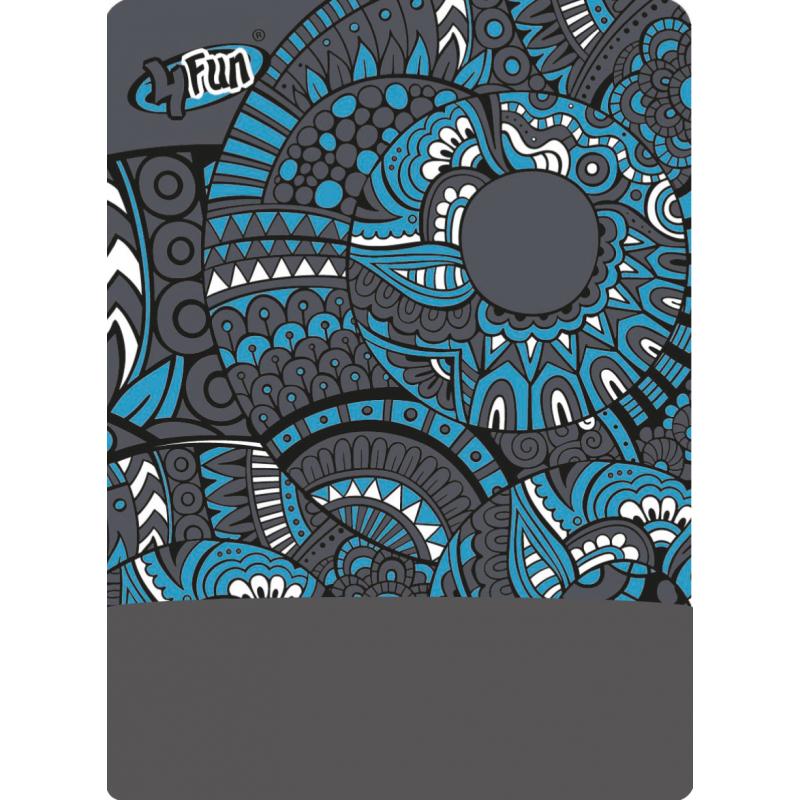 5c60d4e0b Multifunkčná šatka 4FUN Ornament Grey POLARTEC - Multifunkčná unisex  zateplená tubusová šatka značky 4Fun vyrobená z