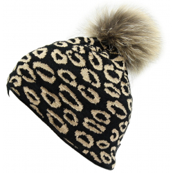 Dámska zimná čiapka BLIZZARD-Leopard CAP black W