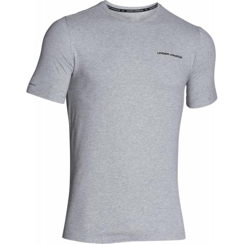 UNDER ARMOUR-Charged Cotton SS T-Grey - Pánske tričko značky Under Armour. 9920910a706