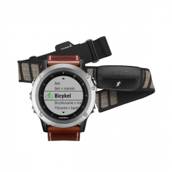 GARMIN fénix 3 Sapphire, Silver Leather, Performer Bundle