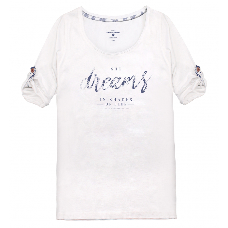 17031cd4a8db VOLCANO-S-SHIRT L-KOFI-WHITE - Dámske tričko značky Volcano v
