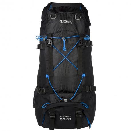 Turistický ruksak REGATTA Blackfell 2 60+10 Black/FrnBlu - Turistický ruksak značky Regatta z polyesterovej ripstop tkaniny, ktorá zaručuje odolnosť.
