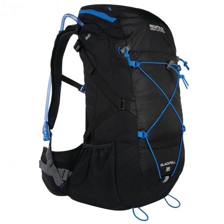 Turistický ruksak REGATTA Blackfell II 35L Black/FrnBlu - Turistický ruksak značky Regatta z polyesterovej ripstop tkaniny, ktorá zaručuje odolnosť.