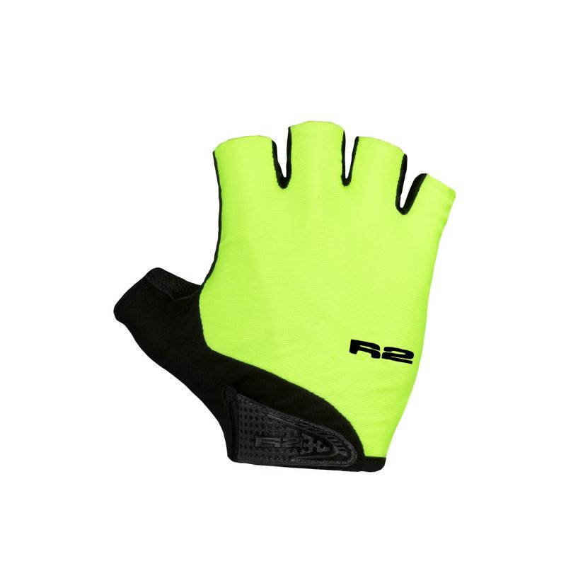 Cyklistické rukavice R2-Riley - neónová žltá/čierna - Cyklistické rukavice značky R2.
