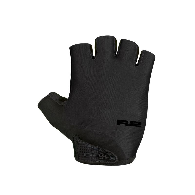 Cyklistické rukavice R2-Riley - čierna/čierna - Cyklistické rukavice značky R2.