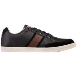 Pánska rekreačná obuv KAPPA CARMELO LOW BLACK/COGNAC