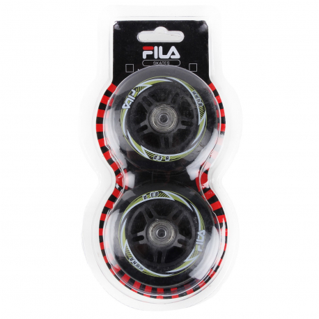 Kolieska, ložiská a vymedzovač inline FILA SKATES-84mm/83A +ABEC7 Bear+Alu Spacer - Náhradné kolieska na in-line korčule Fila - sada 8 koliesok.
