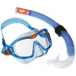 Detský potápačský set AQUALUNG SET MIX junior vel.S Softeril blue
